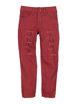 Girls 7-16 Patch and Repair Twill Pants - 1602056720027