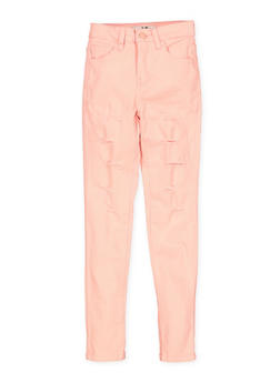Girls 7-16 Patch and Repair Twill Pants - 1602056720029