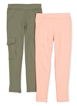 Girls 7-16 Casual Cargo Pants Set - 1602061950025