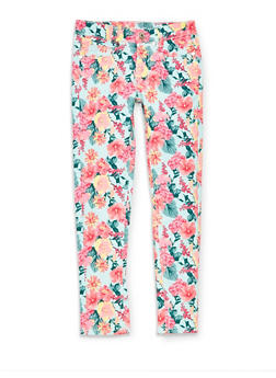 Girls 7-16 Floral Jeans - 1602063370001