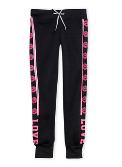 Girls 7-16 Love Graphic Joggers - 1602063400058