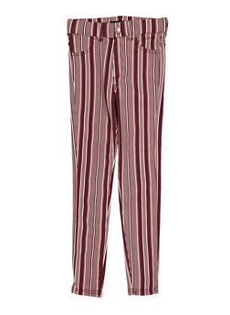 Girls 7-16 Striped Hyperstretch Jeggings - 1602063400088