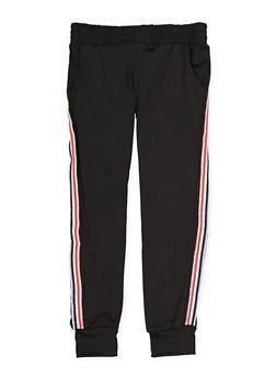 Girls 7-16 Shimmer Side Stripe Joggers - 1602063400102