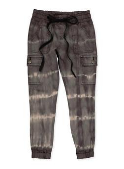 Girls VIP 7-16 Tie Dye Cargo Jeans - 1602065300024