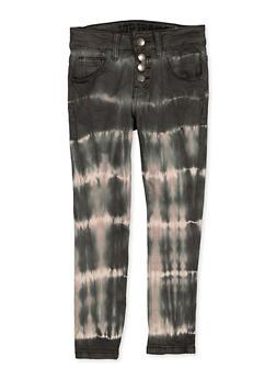 Girls 7-16 VIP 4 Button Tie Dye Jeans - 1602065300025