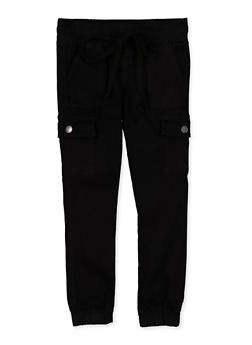 Girls 7-16 Solid Cargo Joggers - 1602065300028