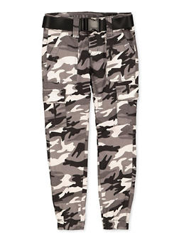 Girls 7-16 VIP Belted Camo Cargo Joggers - 1602065300035