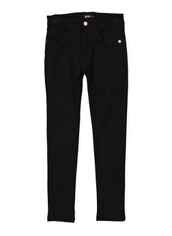 Girls 7-16 Stretch Twill Pants | Black - 1602073990010