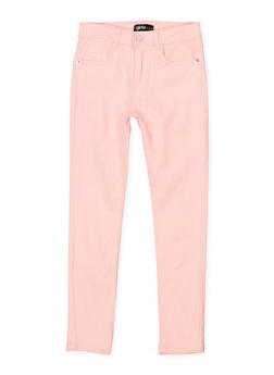 Girls 7-16 Stretch Twill Pants | Blush - 1602073990015