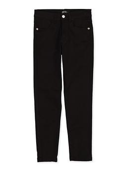 Girls 7-16 Black Stretch Twill Pants - 1602073990020
