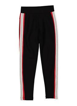 Girls 7-16 Side Stripe Ponte Pants - 1602074640002