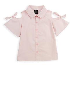 Girls 7-16 Striped Cold Shoulder Shirt - 1606038340105