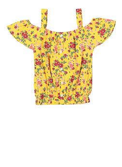 Girls 7-16 Off the Shoulder Floral Top - 1606048370007