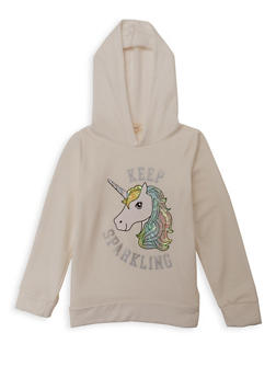 Girls 7-16 Keep Sparkling Unicorn Sweatshirt - 1606072200001