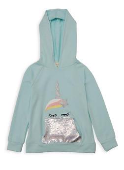 Girls 7-16 Unicorn Reversible Sequin Sweatshirt - 1606072200004