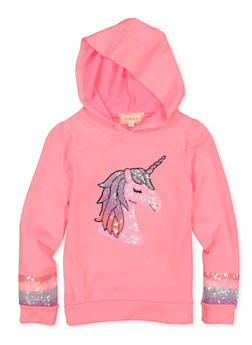 Girls 7-16 Sequined Unicorn Sweatshirt - 1606072200006