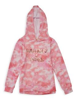 Girls 7-16 Unicorn Vibes Tie Dye Sweatshirt - 1606072200008