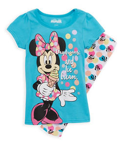 Girls 4-6x Minnie Mouse Graphic T Shirt and Leggings - 1607009290046