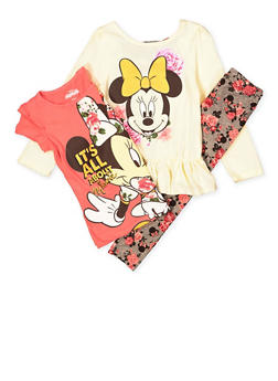 Girls 4-6x Minnie Mouse Tees with Leggings - 1607009290057