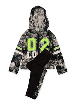 Girls 4-6x 02 Love Hooded Top and Joggers Set - 1607038340110