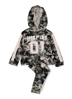 Girls 4-6x Inspire 01 Hooded Top and Joggers Set - 1607038340112