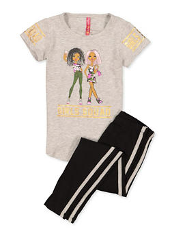 Girls 4-6x Girls Squad Tee and Leggings Set - 1607066590003