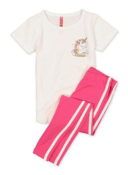 Girls 4-6x Follow Your Dream Tee and Leggings - 1607066590010