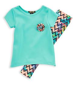 Girls 4-6x Ponte T Shirt and Printed Leggings - 1607073960003