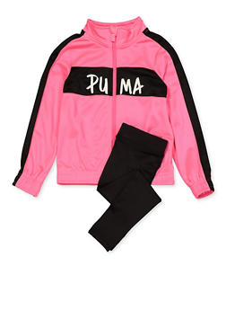 Girls 4-6x Puma Track Jacket and Leggings Set - 1607075230001
