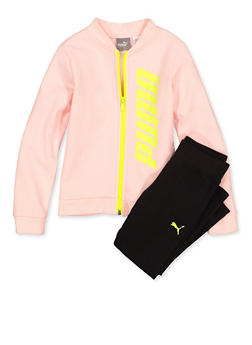 Girls 4-6x Puma Sweatshirt and Leggings Set - 1607075230005