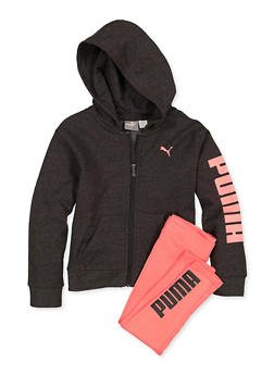 Girls 4-6x Puma Zip Sweatshirt and Leggings Set - 1607075230007