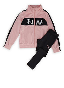Girls 4-6x Puma Track Jacket and Active Leggings - 1607075230023
