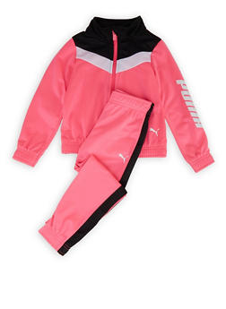 Girls 4-6x Puma Color Block Detail Track Jacket and Pants - 1607075230025