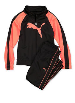 Girls 4-6x Puma Color Block Track Jacket and Pants - 1607075230027