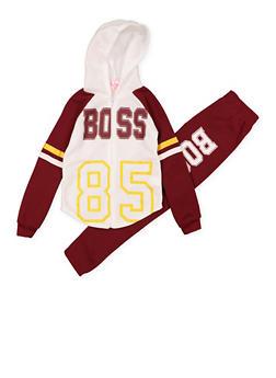 Girls 7-16 Boss Sweatshirt and Joggers - 1608038340100