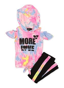 Girls 7-16 More Love Top and Leggings Set - 1608038340116