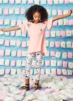 Girls 7-16 Graphic Patch Tee and Leggings - 1608061950120