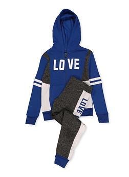 Girls 7-16 Love Graphic Sweatshirt and Joggers - 1608063400083