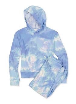 Girls 7-16 Hooded Tie Dye Top and Joggers Set - 1608075170003