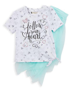 Girls 4-6x Graphic T Shirt and Tulle Tutu - 1609061950008