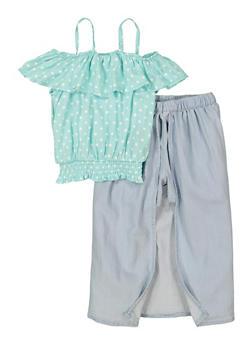 Girls Polka Dot Top and Maxi Shorts - 1610038340048
