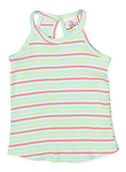 Girls 4-6x Striped Tank Top - 1611054730010