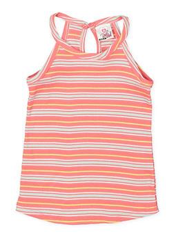 Girls 4-6x Striped Tank Top - 1611054730010