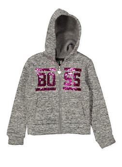 Girls 4-6x Boss Reversible Sequin Graphic Sweatshirt - 1611063400002
