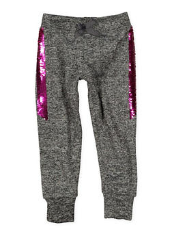 Girls 4-6x Reversible Sequin Trim Joggers - 1611063400010