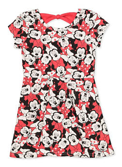 Girls 4-6x Minnie Mouse Bow Back Dress - 1614017723806