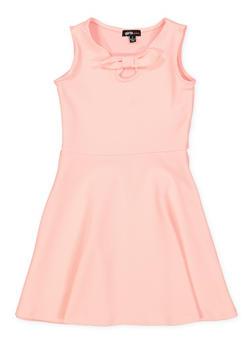 Girls 4-6x Bow Tie Skater Dress - 1614038340251