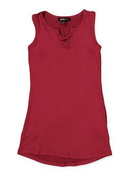 Girls 4-6x Caged Neck Tank Dress - 1614038340342