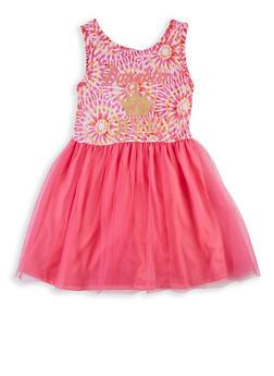 Girls 4-6x Daughter of a Queen Tie Dye Skater Dress - 1614048370004