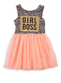 Girls 4-6x Girl Boss Skater Dress - 1614048370010